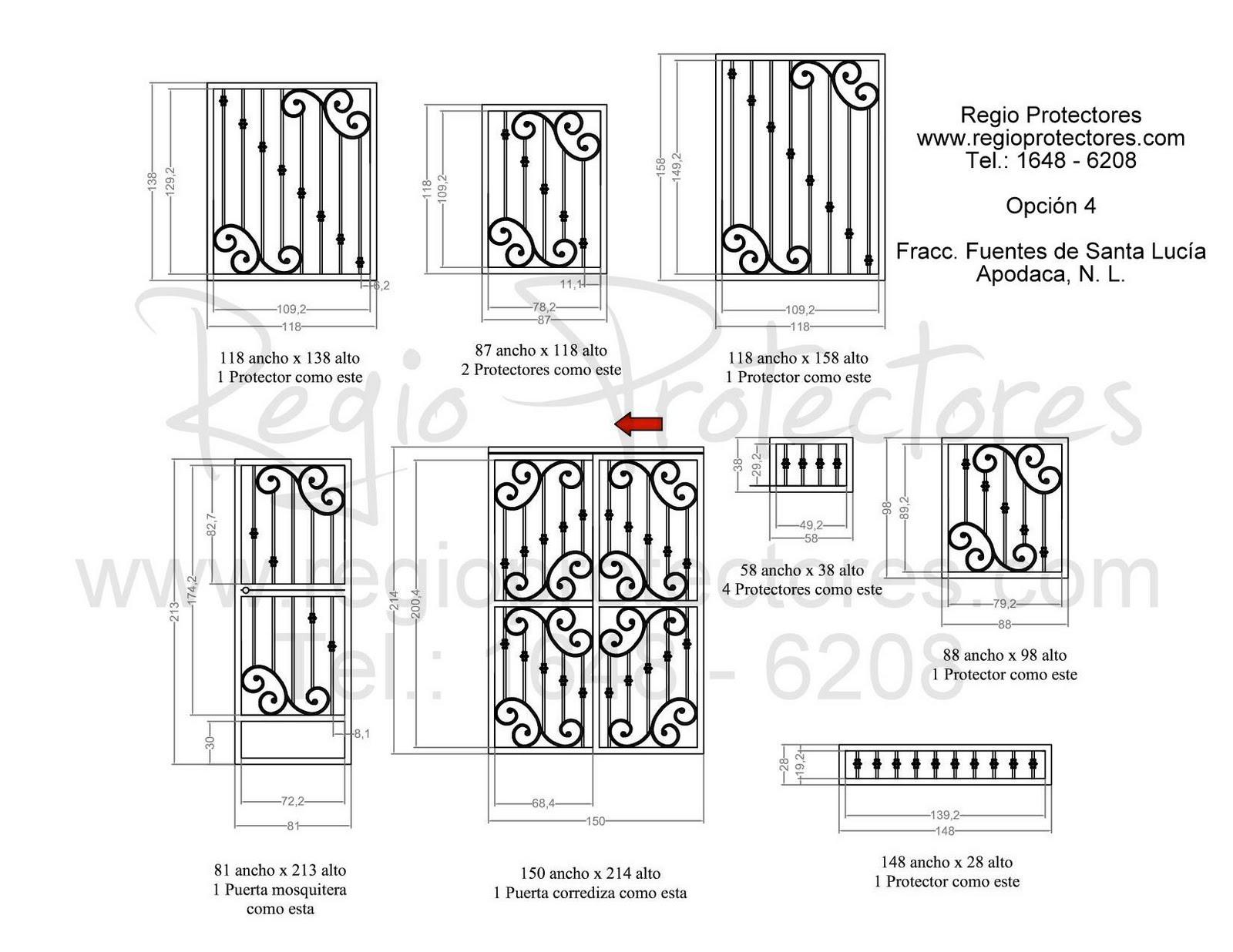 para ventanas y puertas, Fuentes de Santa Lucía, #180, Plano de
