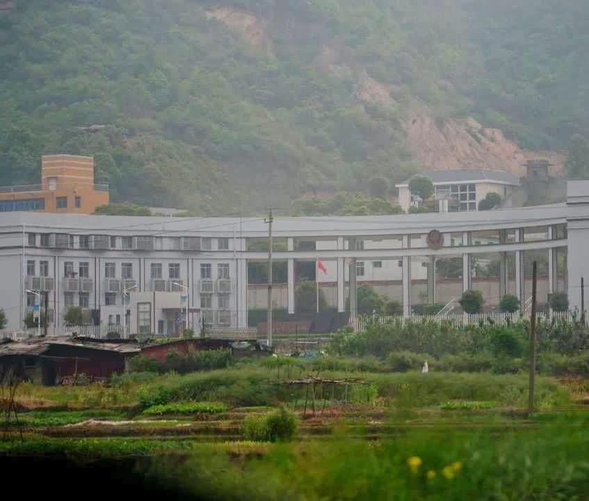 "Campo de ""reforma pelo trabalho"" de Zhuzhou Baimalong, Hunan  (Foto. Ed Jones)"