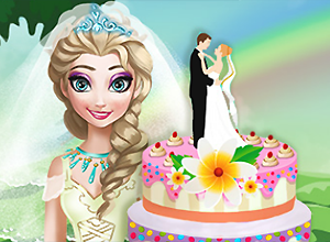 Elsa Wedding Cake Cooking