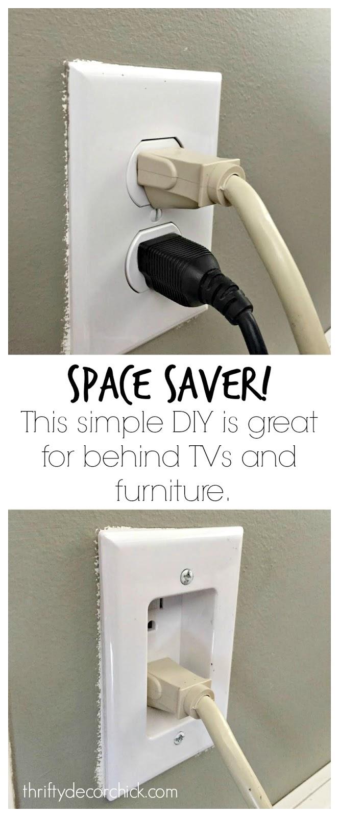 DIY: recessing a plug