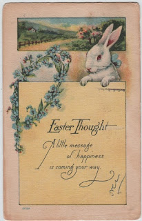 vintage easter greetings postcard