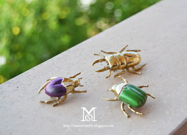 beetle brooch, diy, fashion diy, metallic foil