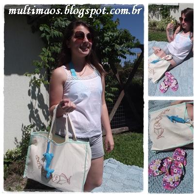 chinelos decorados, eco bag, chaveiro feltro, moda praia,peças artesanais, artesanato