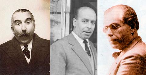 Pedro Muñoz Seca, Julián Cortés-Cavanillas y Pedro Luis de Gálvez