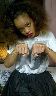 rihanna hand tatoo 2012