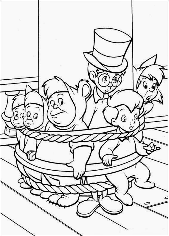 Cuentos infantiles peter pan para colorear dibujos para for Peter pan da colorare