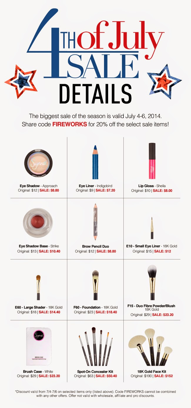 Sigma Brushes coupon July 2014