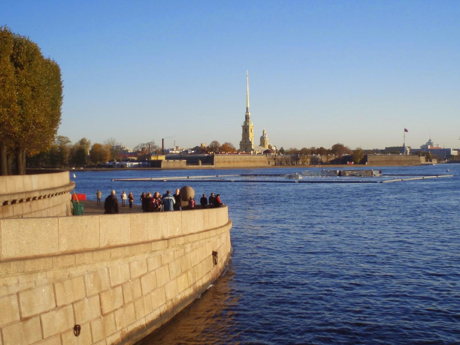 Malecón del Neva de San Petersburgo