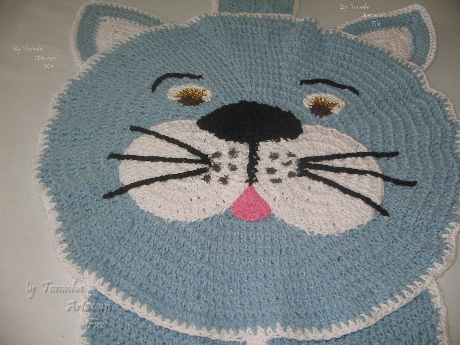 Toninha Arte com fios: Tapetes em crochê com barbante #92394E 1600 1200
