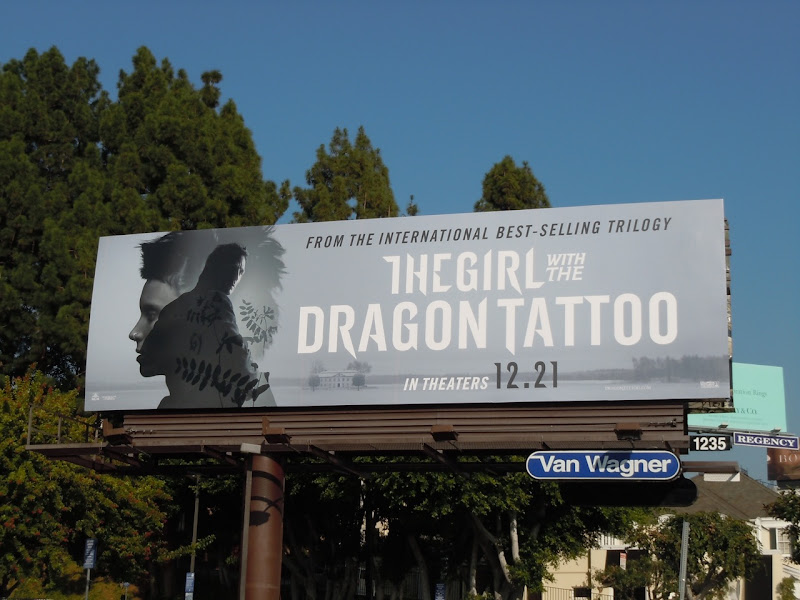 The Girl with the Dragon Tattoo remake billboard