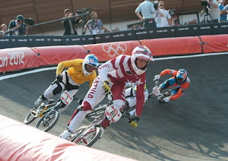 BMX in full gear helmets and pads