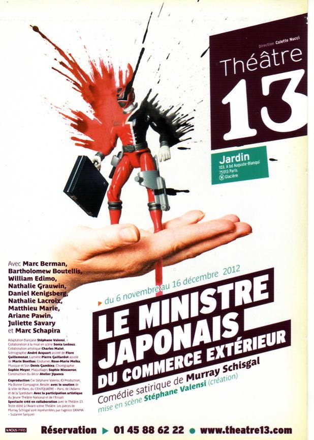 Critique de th tre le ministre japonais du commerce exterieur com die satirique de murray schisgal for Ministre du commerce exterieur