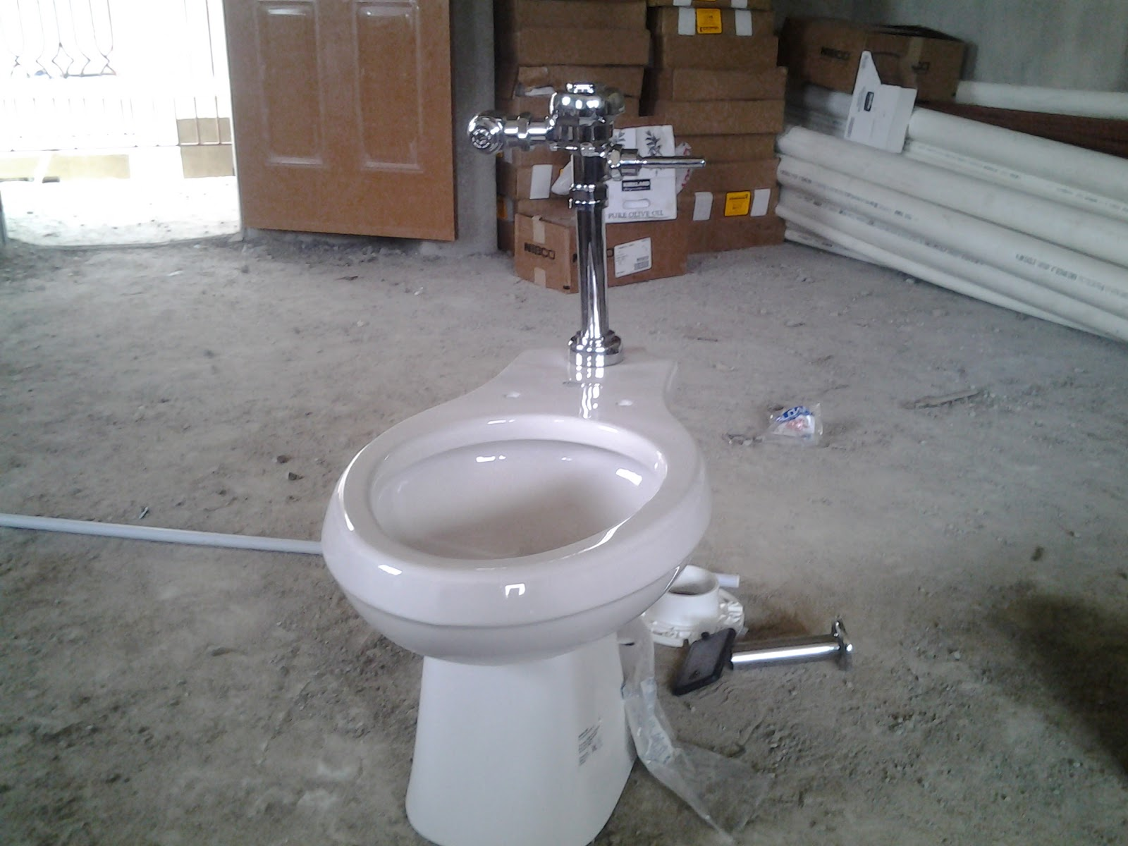 The Newly Imported American Tankless Water Closet System At Ikeja Lagos Nigeria