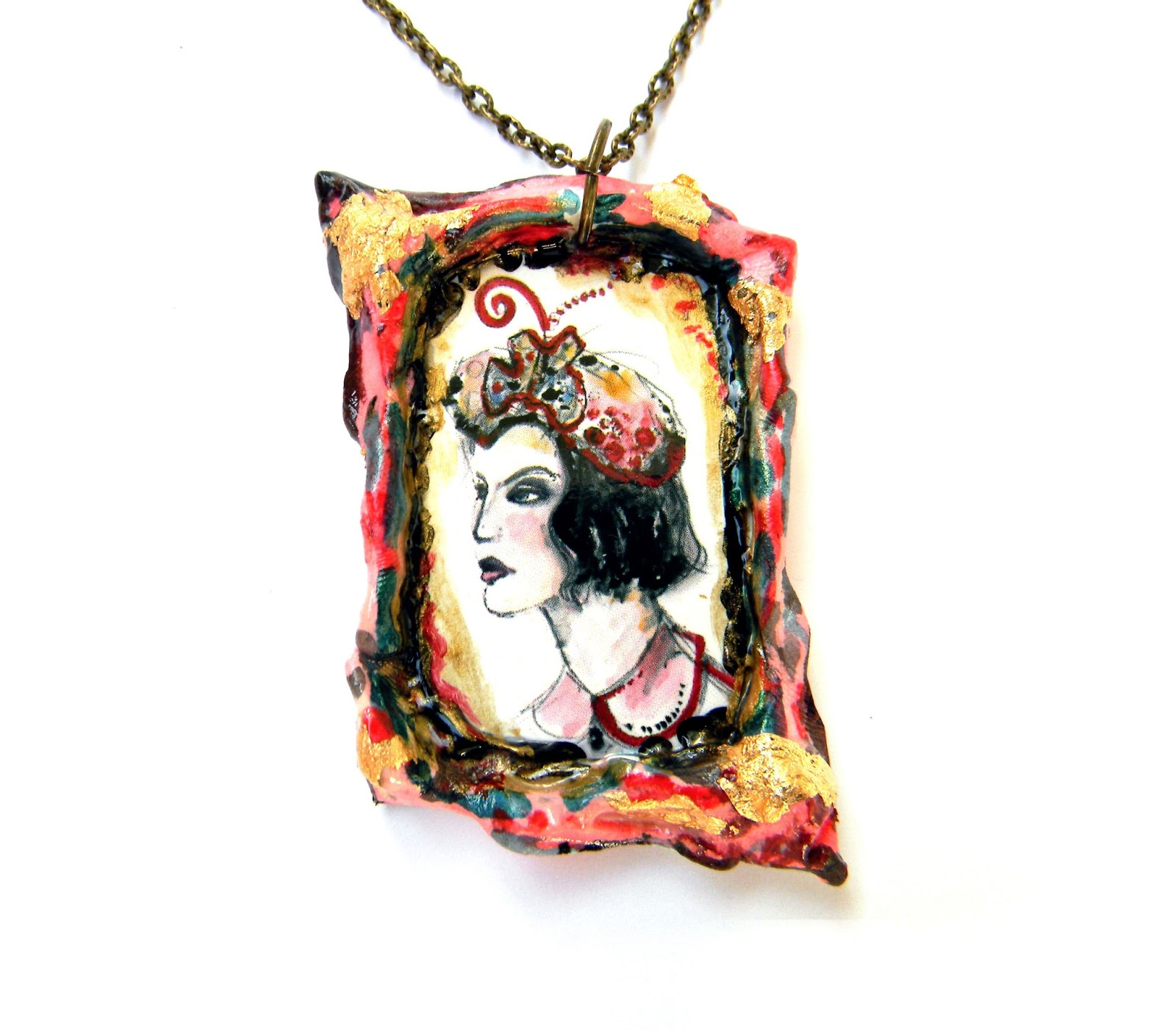 Unique Handmade Fashion Jewelry Victorian Jewelty Original Handcrafted Pendant Necklace Design
