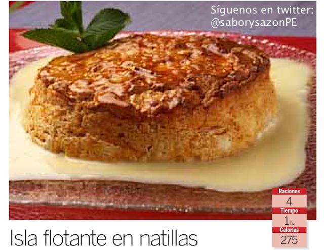 Postre : Isla flotante en natillas - Receta - Recipes - elpostreperuano.blogspot.com