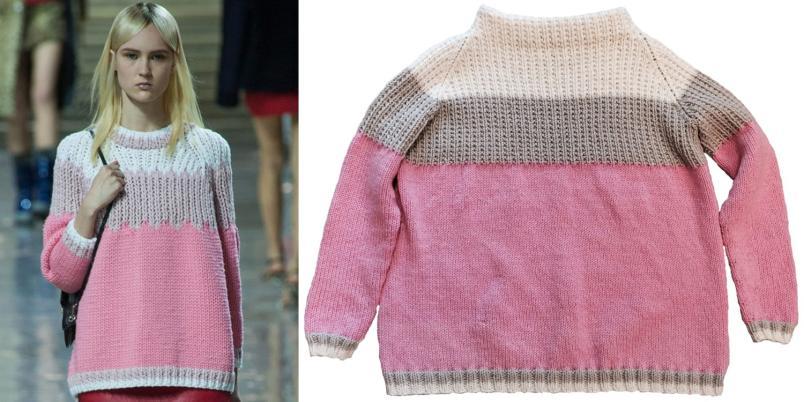 Gratisoppskrift på Miu Miu genseren