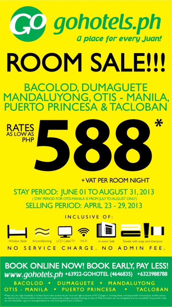 Because Go Hotels Has Just Announced Their Latest Promo Cutting Down Room Rates To As Low 588 Pesos Exclusive Of Vat That Includes The Bed