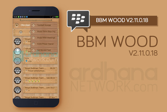 BBM Wood V2.11.0.18 - BBM Android V2.11.0.18