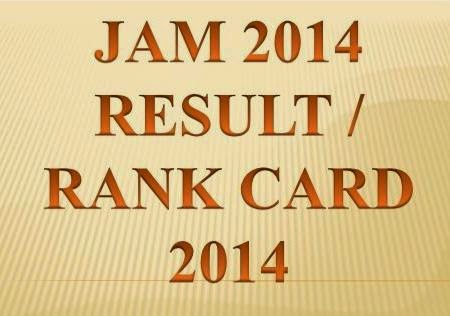 Check Name Wise Rank Card JAM 2014 Result Score Card @ www.gate.iitk.ac.in
