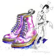 O responsável pela primeira utilização de calçado Doc Martens no contexto .