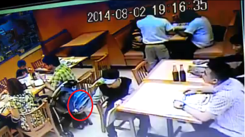 'Salisi' thieves at a restaurant Greenhills Caught on CCTV
