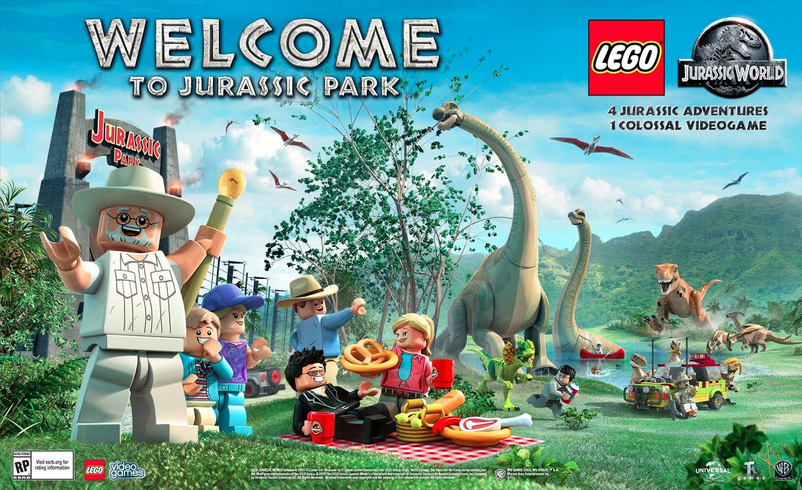 The brickverse lego jurassic world video game - Jurasic park lego ...