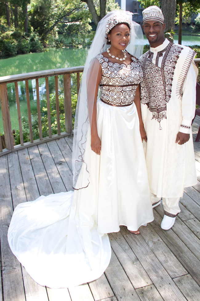 Types and designs of African wedding attire