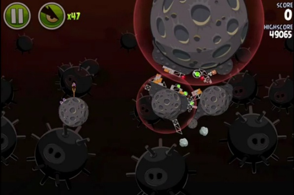 Angry birds space danger zone level d 28