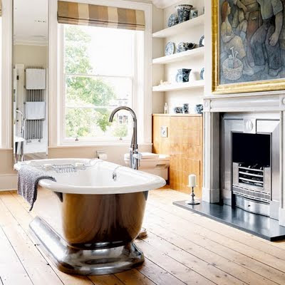 ... Deserving Of All Of The Elegant Details That Are So Often Reserved For  The More Public Rooms Of The House, This Bathroom Enjoys Not Only A  Fireplace, ...