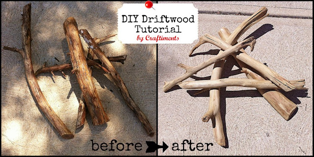 DIY Driftwood Tutorial by Craftiments.com