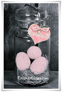 Primitive Spring Eggs in a Jar