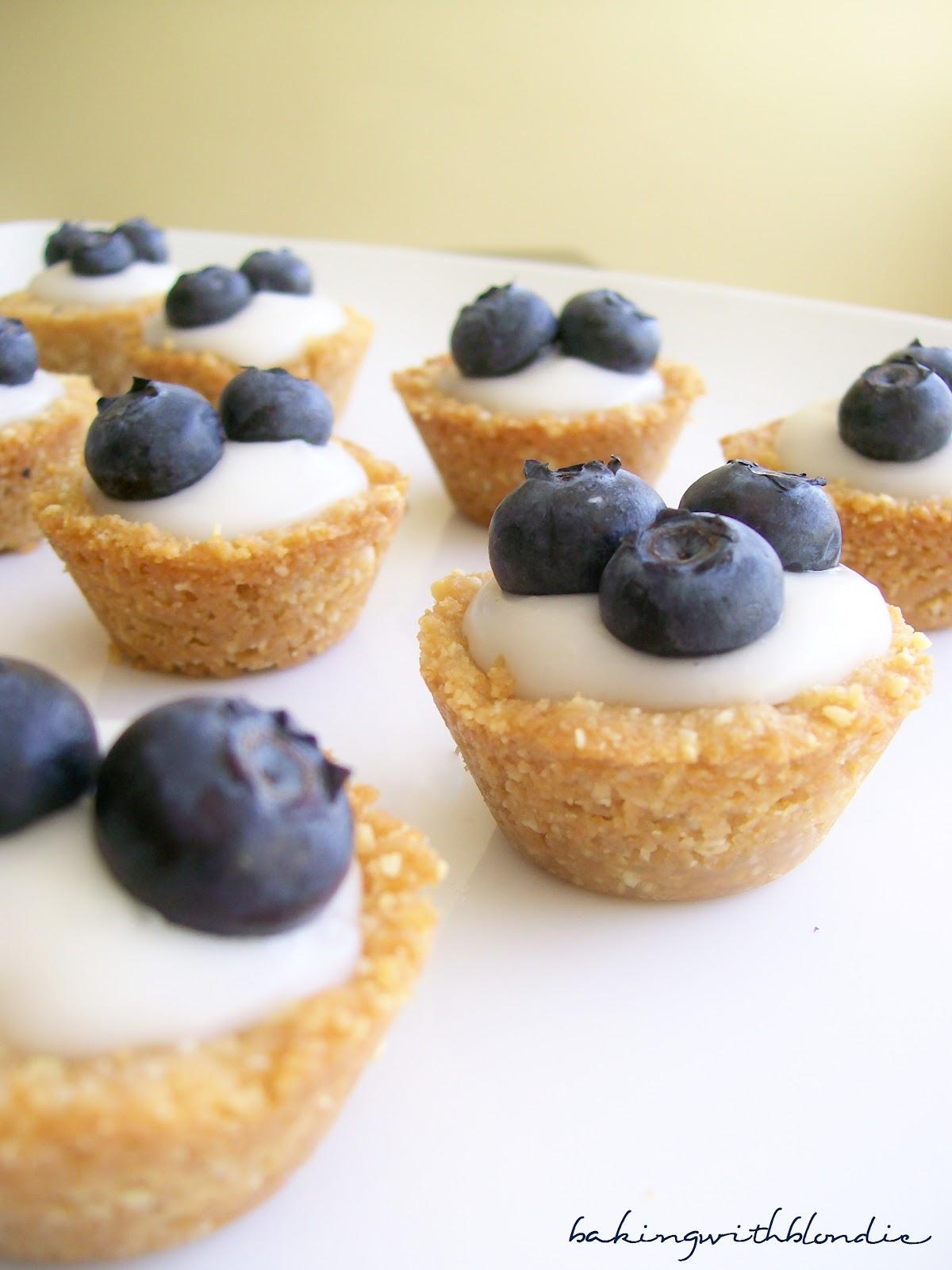 Baking with Blondie : Blueberry Coconut Custard Mini Tarts