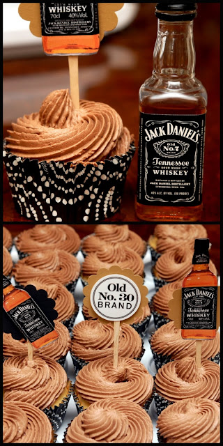 Jack Daniel's chocolate frosted cupcakes