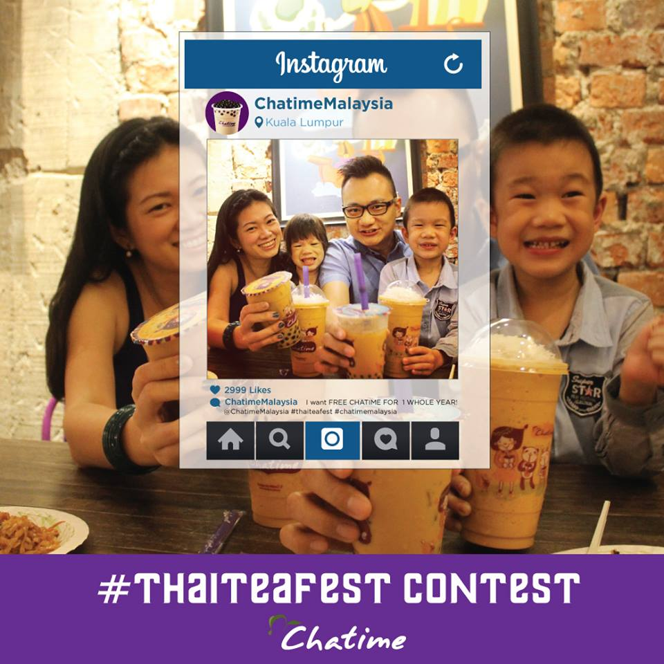 Thanks Chatime for featuring us at Chatime Instagram Promo!
