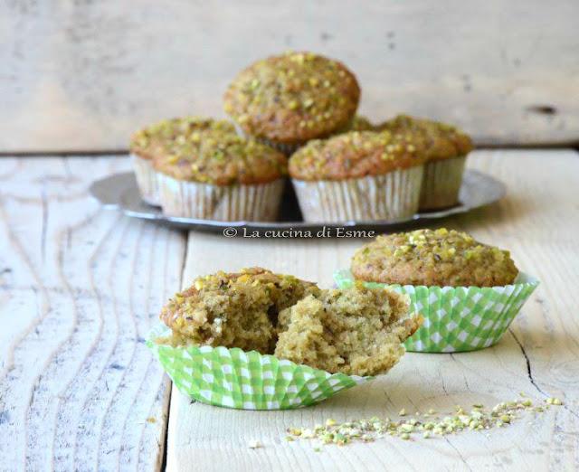 muffin alla crema dolce di pistacchio di bronte