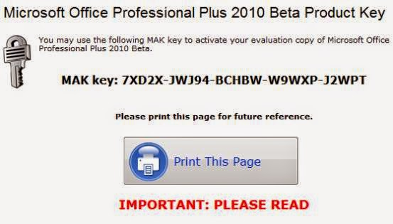 office 2010 activation key change