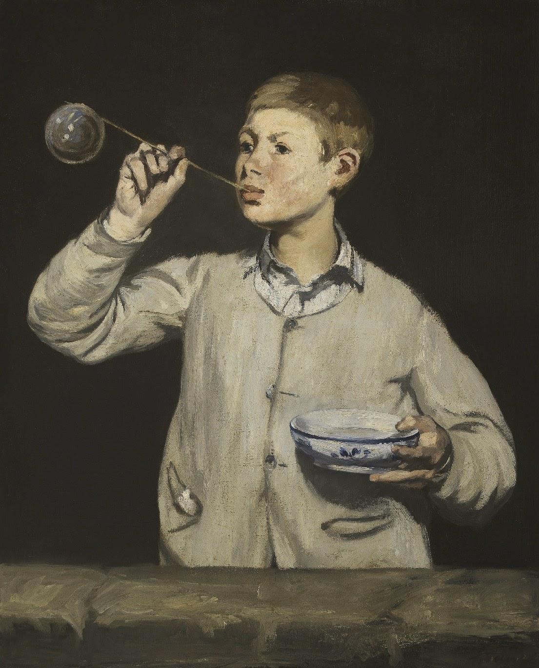 Édouard Manet, Chico haciendo pompas de jabón (1867), Fundación Calouste Gulbenkian, Lisboa