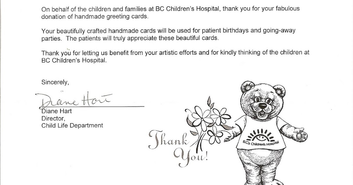 Send a smile 4 kids canada thank you letter from the bc send a smile 4 kids canada thank you letter from the bc childrens hospital m4hsunfo