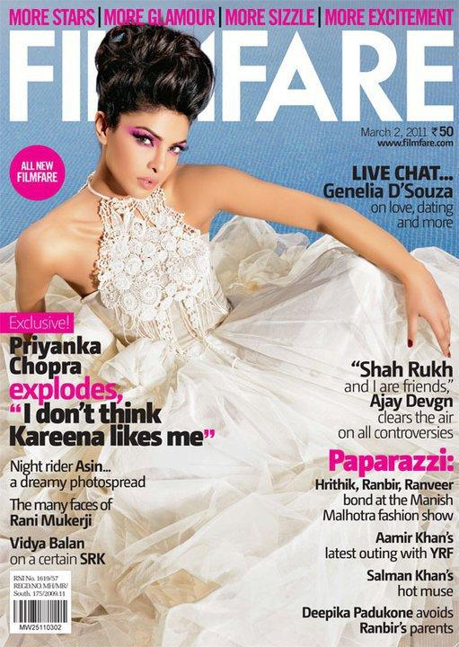 Priyanka Chopra Filmfare Magazine Cover Scans March 2011