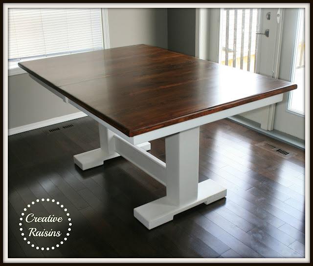 Creative raisins kitchen table redo for Creative kitchen tables