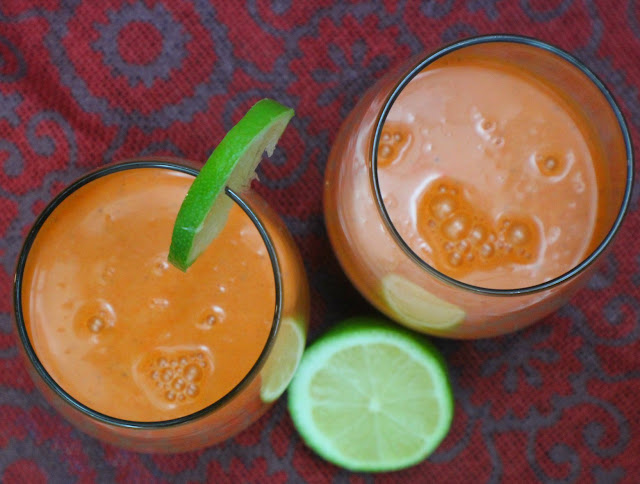 A refreshing drink of blended carrots with milk, a hint of lime juice and nutmeg best served chilled. A traditional Jamaican Carrot Juice