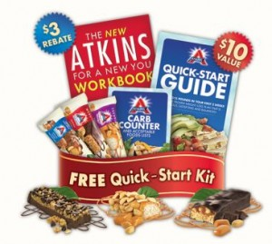Being Frugal 101: 3 Free Atkins Bars Kit and Quick-Start Kit
