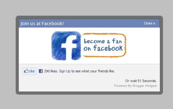 popup facebook dengan timer