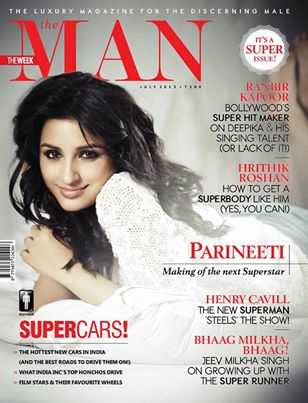 Parineeti Chopra on the magazine cover of 'The Man' - July 2013