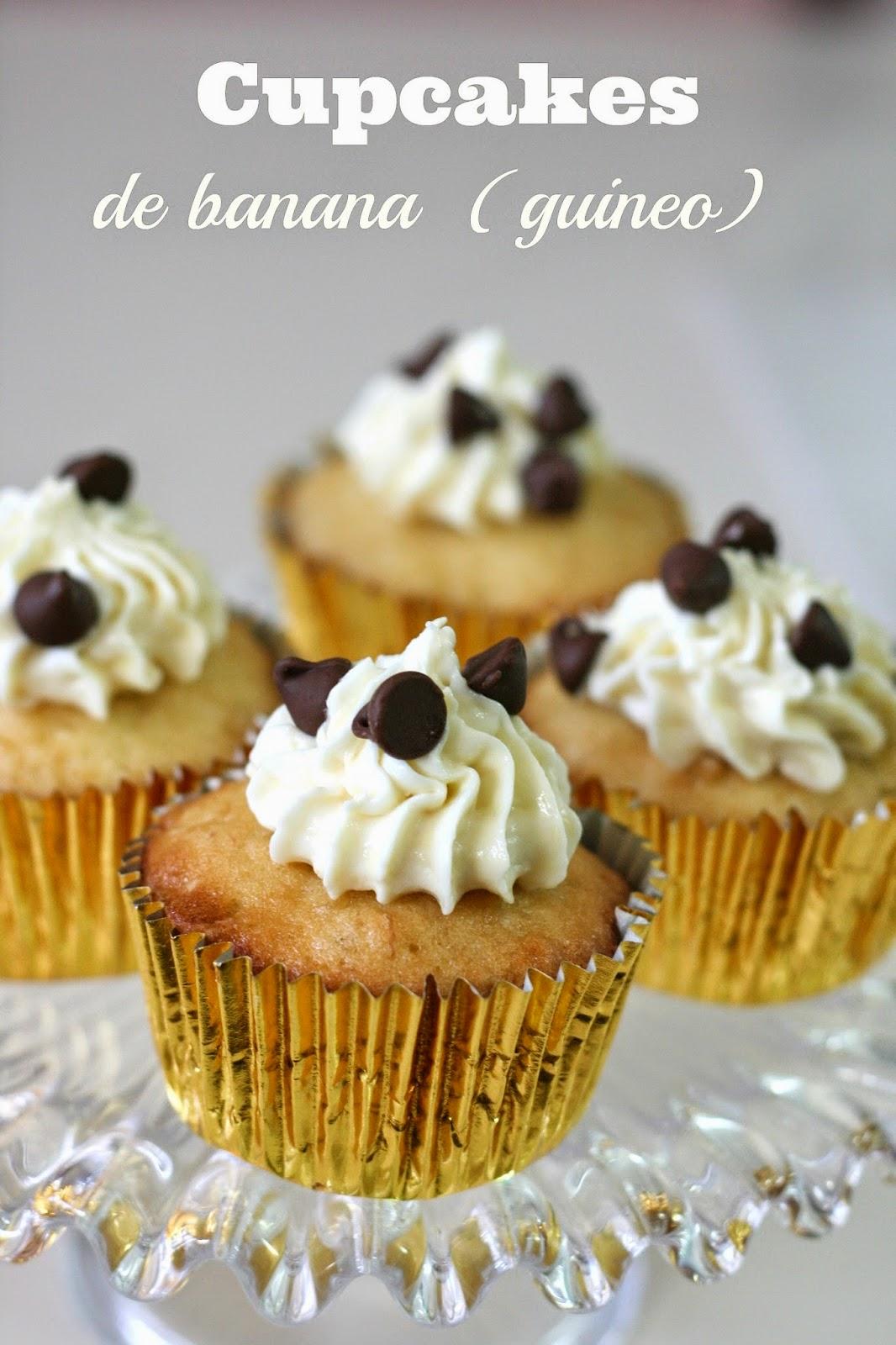 Cupcakes-de-guineo
