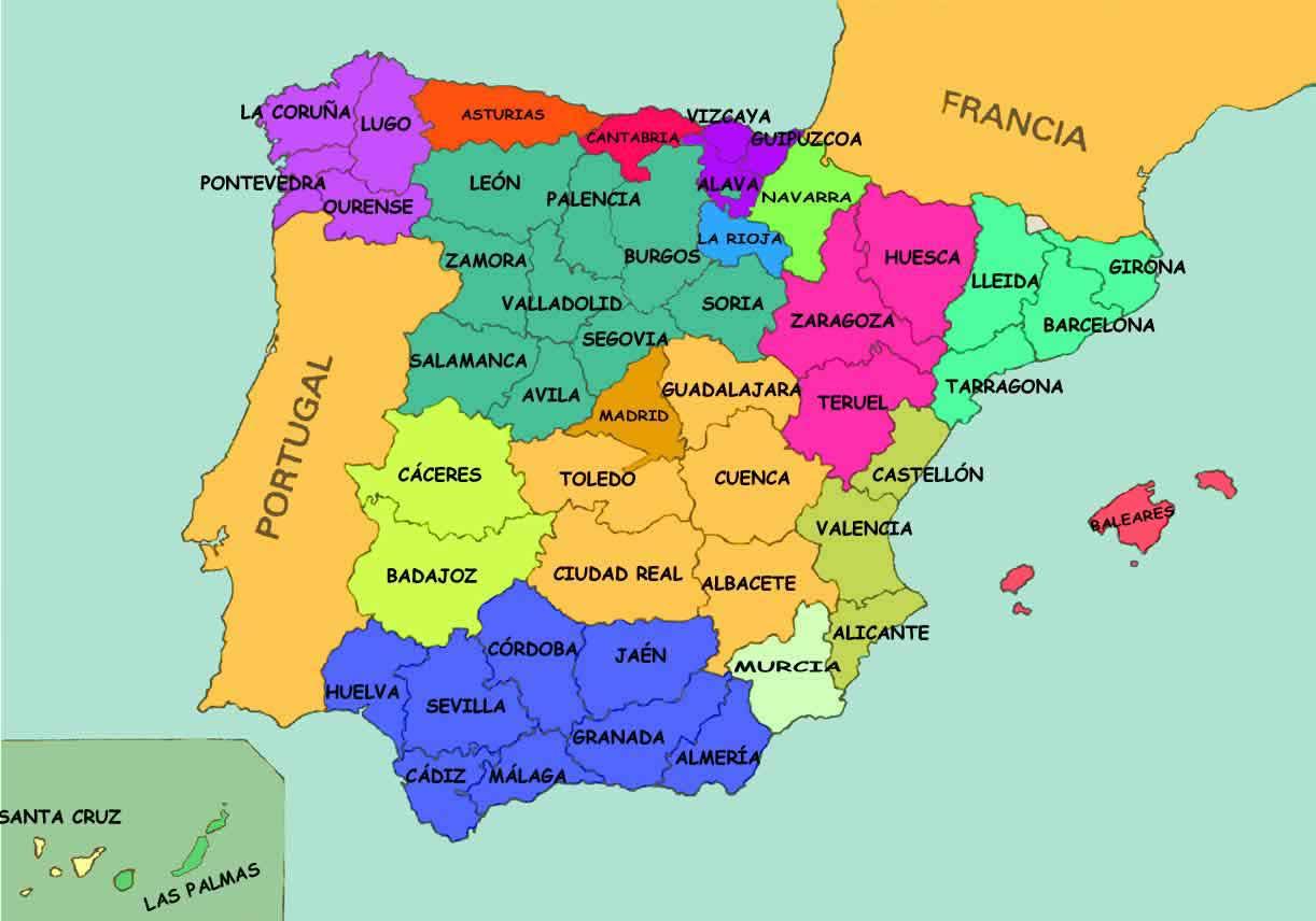 English Macaroon Provinces of Spain