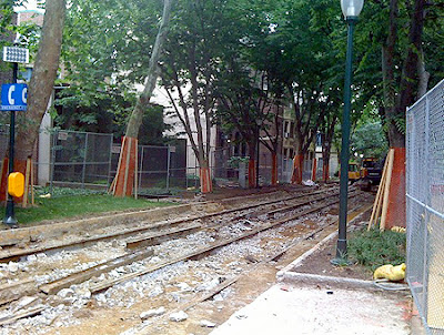 UPenn and Locust Walk and Trolley