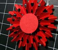 Rosette red valentine heart flower tutorial
