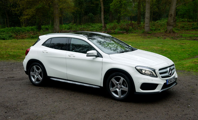 Mercedes-Benz GLA-Class 200 CDI AMG Line front side view