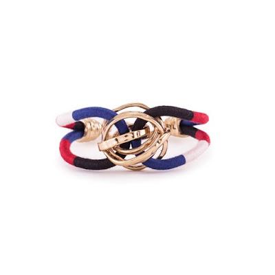 saldos  Wish list da Bimba&Lola - pulseira azul, vermelho e dourado